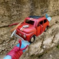 Easter candle with Fiat 500 miniature car