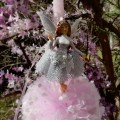 Easter candle Fairy in enchanted forest