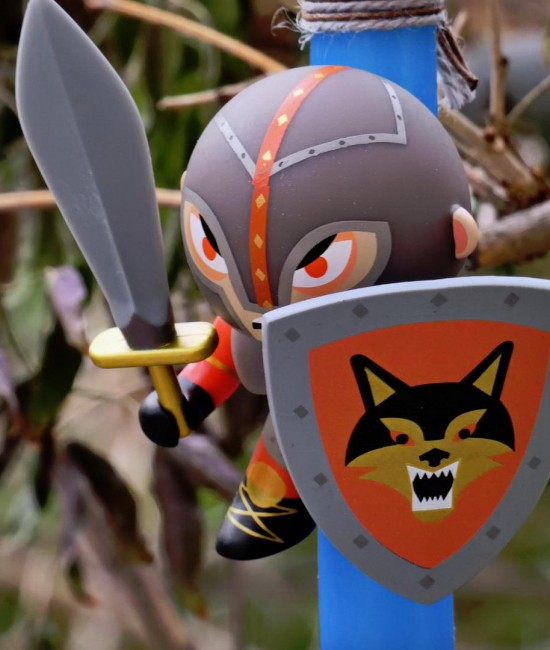 Knight Grey Wolf Easter Candle